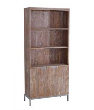 Braga Bookshelf 3 Shelves With Doors BRG 01 300x350