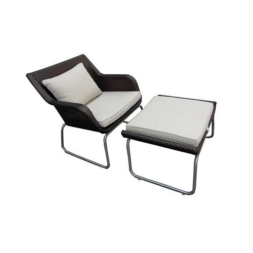 Crown Lounge Chair Foot Stool Weatherproof Furniture
