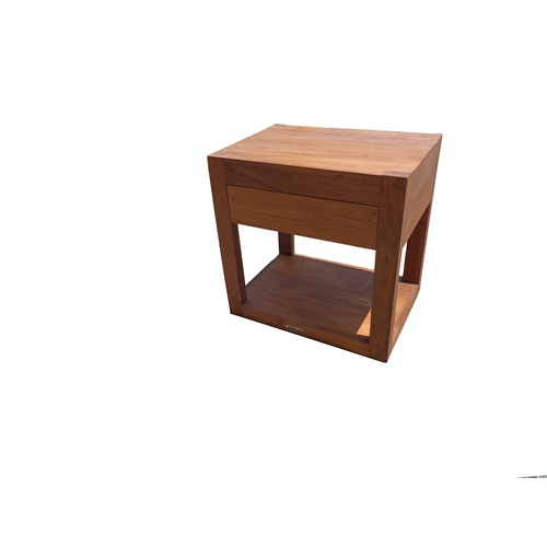 Teak Bedside Table - 1