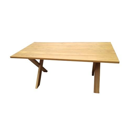 Cross X legs Dining Table - 1